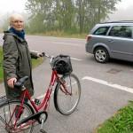Här slutar den säkra vägen för cyklisterna
