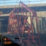 Lastbil fick lasten avhyvlad