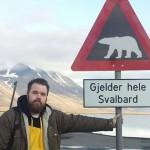 Andreas mötte en isbjörn på morgonen