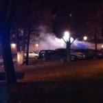 Flera bilar brann på Bäckby