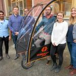 Är högskolans elcykel lösningen på parkeringsproblemen i city?